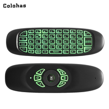 2.4GHz Wireless Fly Air Mouse Game Keyboard Backlight Rechargeable Universal Smart Mini Keypad for Computer Android TV Box PC(China)
