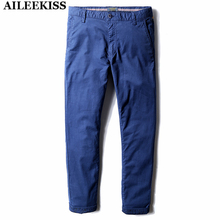 2017 Blue Men Long Pants Summer Spring Autumn Cool Mans Trousers Casual Overalls Working Cargo Pant 100% Cotton Plus Size XT362