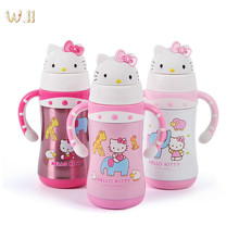 Kitty Vacuum KT Children 304 Stainless Steel Water Bottle Straw Water Bottles High Leakproof Quality Weight 289g