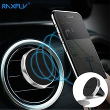 RAXFLY Magnetic Mobile Phone Car Holder Universal Air Vent Mount Adsorption Mini Bracket Car Stand Phone For iPhone 6 6S 7 Plus(China)