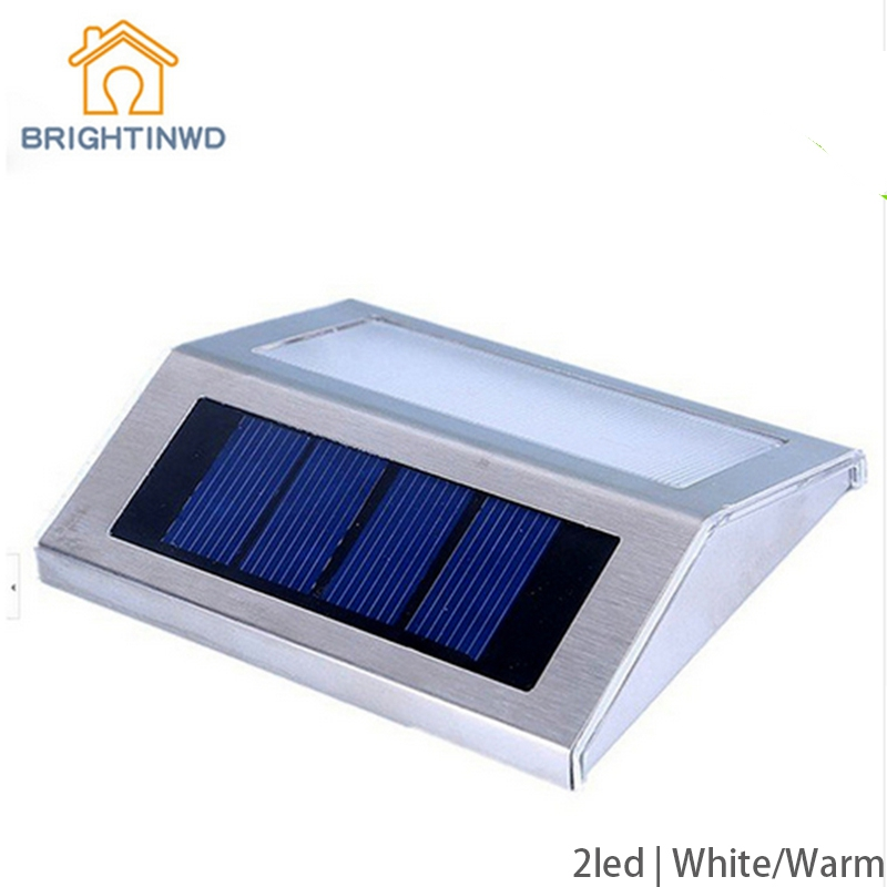 LED Solar lamp Power sconce Wireless LED Waterproof Ourdoor Light Garden Stairway Path Solar Panels Step Stair Deck(China)