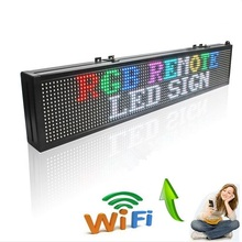 40inch WIFI Full Color SMD LED Signs Edit Message Board RGB Open Sign Outdoor Lighting Advertisement Lamp Display Screen(China)