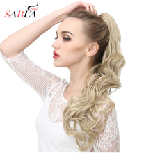 SARLA 1PC Natural Wave Claw In Ponytail Hair Extension Dual Use 160g Resistant High Temperature Hairpieces Synthetic P006