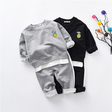 2017 New Autumn Spring Children's Sports Suit Kids Clothing Sets Long Sleeve T-Shirt + Pant 2 pcs Casual Boys Clothes(China)