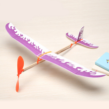 1 Set Creative Rubber Band Airplane Paper Jet Glider Kids Children Educational Learning Machine Handmade DIY Science Model Toys(China)