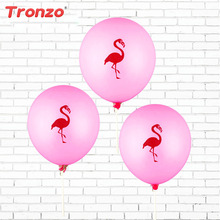 Tronzo 10Pcs 12Inch Pink Flamingo Party Balloons Latex Inflatable Ballon Tropical Party Supplies Wedding Decoration(China)