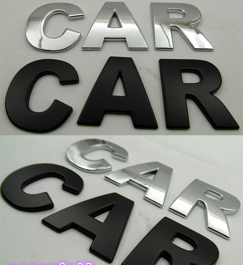 Self Adhesive Stickers Car Auto 3D Emblem Badge Decal Letter Chrome Symbol O