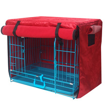 Durable Print Washable Pet Dog Cage Cover Kennel Accessories  Waterproof Oxford Puppy Thick Blanket Without Cage