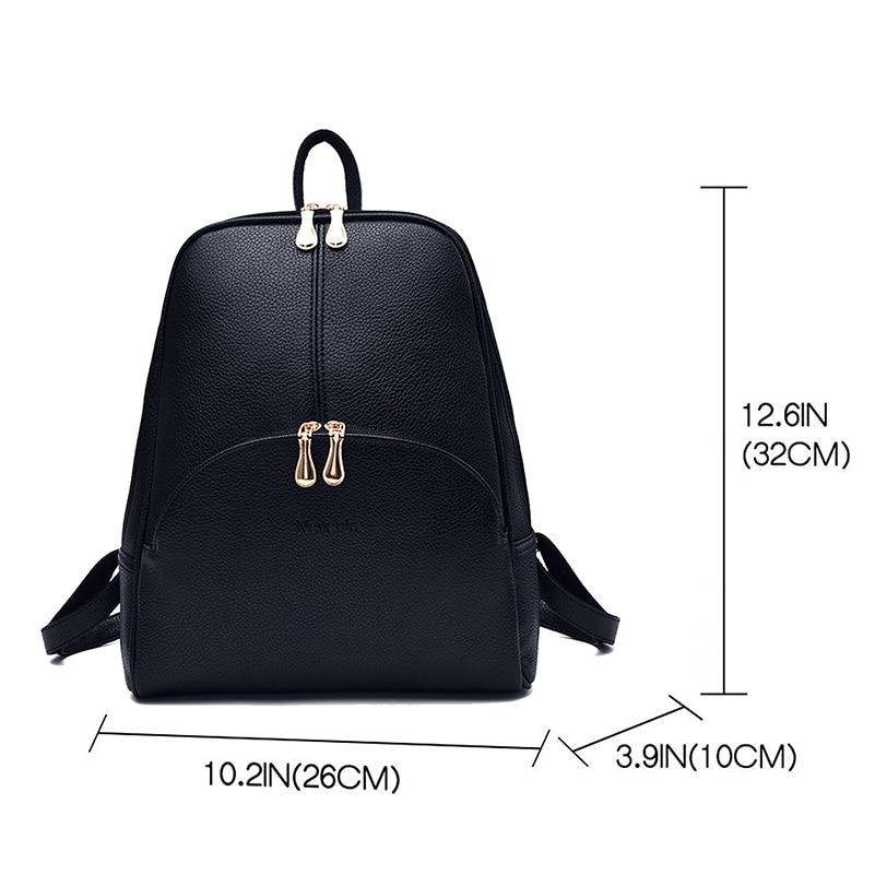 Nevenka Women Backpack Leather Backpacks Softback Bags Brand Name Bag Preppy Style Bag Casual Backpacks Teenagers Backpack Sac01