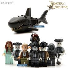Kaygoo PG8048 Pirates of the Caribbean Lesaro Captain Jack Sparrow Mermaid Davy Jones Ghost Zombie Shark Super Hero Kids Toys(China)