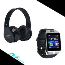 Smart Watch + Bluetooth Headphones smartwatch headphone Wireless Phone Watches DZ09 Headband BT-809 for Apple Android Original