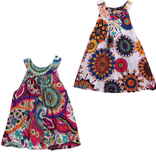 Lovely Baby Kids Girls Cute Sleeveless Dress Toddler Girl Princess Dress Flower Floral Party Tutu Summer Floral Dresses