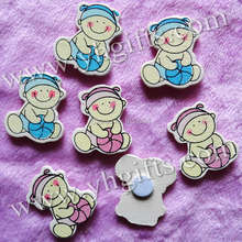 200PCS/LOT,Headband baby play ball wood stickers,Children park ornament,Home decor,Decorative stickers,Wall decals,2.6x3cm.
