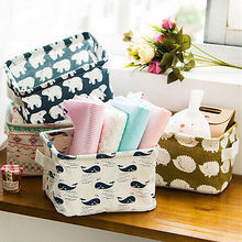 Pastoral Storage Bin Closet Toy Storage Box Container Cartoon Animal Organizer Home Fabric Cube Basket(China)