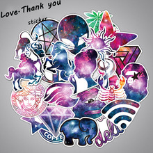 35Pcs/Lot Galaxy Style Stickers Mixed Funny Anime Doodle Decals Luggage Laptop Car Styling Bike DIY Waterproof Sticker(China)