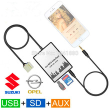 New Usb Sd Aux Car MP3 Adapte CD Change For Suzuki Aerio, Grand Vitara, Ignis, Jimny II, Liana, Splash, Swift, SX4, Wagen R+, X