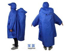 Backpack Cover One-piece Raincoat Poncho Rain Cape Outdoor Hiking Camping Unise CA50156