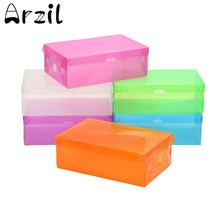 10 PCS/SET Stackable Organizer Cases Bulk Foldable Colorful Plastic Shoe Storage Boxes Drawer Type Box