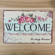 "New High Quality Metal painting letters signs "" WELCOME ""  metal Poster Vintage  for Home decor Bar  Pub wall Decor"