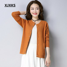 XJXKS Casual Style Women Cardigan Sweaters New 2018 Fashionable Embroidery Bee Spring Clothing Womens Sweater Coat(China)
