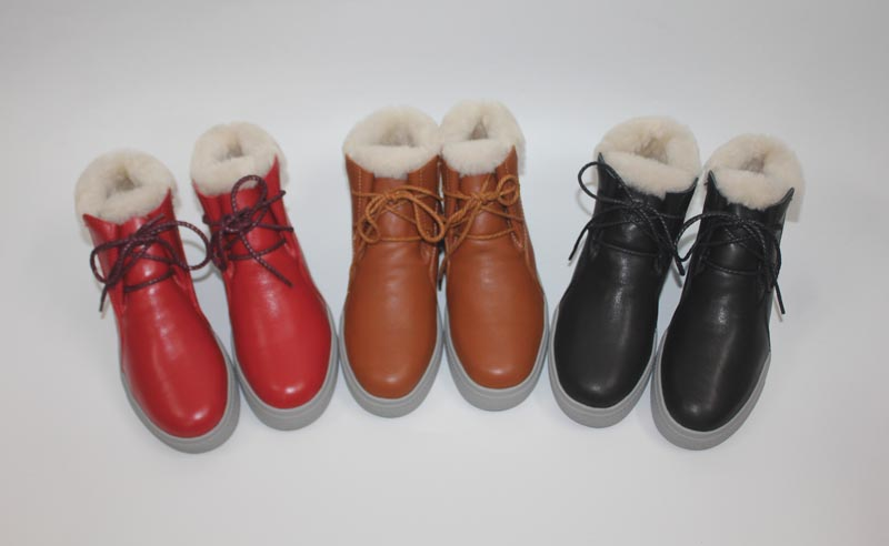 Cowhide wool and fur in one boots snow boots 35 - 40 <br>
