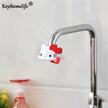 Cartoon Hello kitty Adjustable Faucet Adapter Sprayers Water Saving Sprayer Kitchen Bathroom Faucet Accessories D0(China)