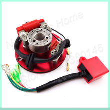 Red Racing Magneto Stator Rotor CDI Kit For YCF Pitster Thumpstar Pit Dirt Bikes 110cc 125cc  Motorcycle Cross