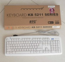 MAORONG TRADING KB 5211AU white USB wired keyboard mechanical feeling Russian layout keyboard home office keyboard(China)