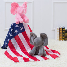 Abbyfrank Plush Electric Doll Toys For Baby Kids Interactive Educational Toy  Sounding Speak English Elephant Dog Hide Seek Game