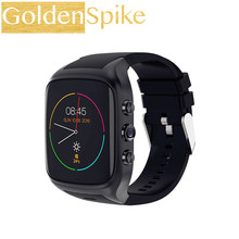 IN Stock X02S Android Smartwatch Phone Bluetooth Smart Watch 1.3GHz Dual Core IP67 GPS Watch Cam 512MB+8G Heart Rate 3G WiFi(China)