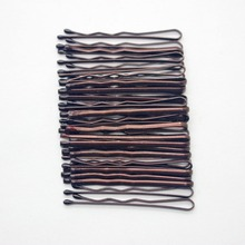 30 Pcs/ set 3.5CM Brown daily use bobby pins classic simplicity hair clips barretes for girl /women hair accessories wholesale(China)