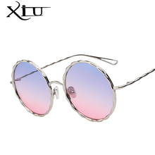 XIU 2017 New Unique Twist Sunglasses Women Brand Designer Fashion Sun glasses Round Metal Fashion Glasses Female Summer Oculos