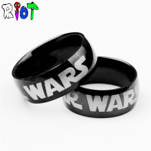 Game Film Star Wars ring stainless steel rings men jewelry bague Black Color Finger 17#19# High Quality fans Gifts Drop Shipping