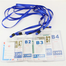 staff card sets worker badge covers with lanyard thicker transparent student certificates work chest cards holder cases