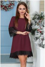 Summer New Arrival  Women Causual  Patchwork Lace Dress  2017 Autumn Fashion Sexy Half Sleeve Crochet Mini Straight Dresses