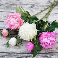 6pcs Artificial Chinese Peony Flower Fake European Ranunculus Asiaticus for Event Wedding Party Centerpieces Decorative Flowers(China)