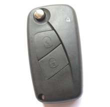 2 Two Buttons Car Remote Folding Flip Key Shell Case For Fiat key fob cover No chip inside