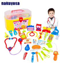 Hot sale 30Pcs Mini Kids Doctor Nurse Medical Role Plays Set Case Baby Kit Plastic Popular Decor Puzzle Science Educational Toy(China)