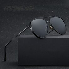Brand Driving sunglasses Men Polarized Sunglasses Classic Aviators Glasses Male Eyewear UV400 Gafas Retro sun glasses Men(China)