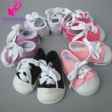 "American Girl 7cm Doll Shoes Fits 18 inch Doll Shoes for 18"" Dolls sneacker Reborn Baby Doll shoes"