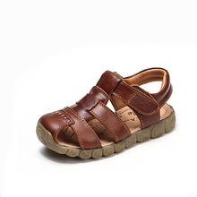Children shoes baby Leather Sandals Male Child Sandals  Children Baby Boy Summer Sandals  casual comfortable summer male