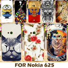 Colorful Painting Design Hard Plastic Case For Nokia Lumia 625 N625 625H 4.7 Inch Cell Phone Cover Shell Protective Sleeve Shell