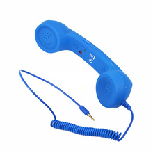 High Quality Multi Color 3.5mm Audio Jack Volume Control Retro POP Phone Handset Radiation-proof for Mobile Phone iPhone 4 4S