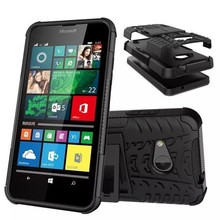 New Design Colorful Hybrid TPU + PC Protective Case Back Cover With Cellphone Holder For Microsoft Nokia Lumia 550