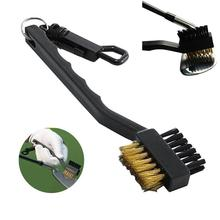 2 Sided Bristles Brass Wires Nylon Golf Club Brush Groove Ball Cleaner Cleaning Kit Accessories Tool Training Practice Equipment