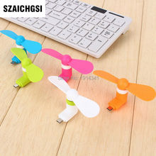 SZAICHGSI good quality Mini Portable Fan usb fans For iPhone 6s 6 / 6s Plus 5s 7 7plus wholesale 500pcs(China)