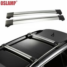 Oslamp 3 Size 93-111cm Roof Rack Universal Adjustable Roof Rack Cross Bar for Honda Toyota Ford SUV Kayak Snowboard Bike Luggage