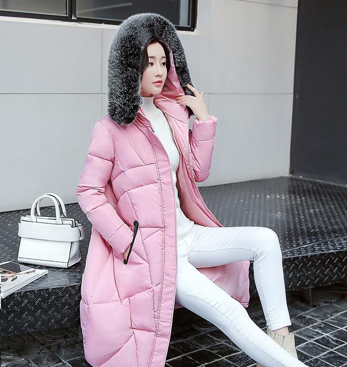 2017 Winter Women Coat Thicken Warm Long Jacket women coat girls long slim big coat jacket Down Parka+18 (2)