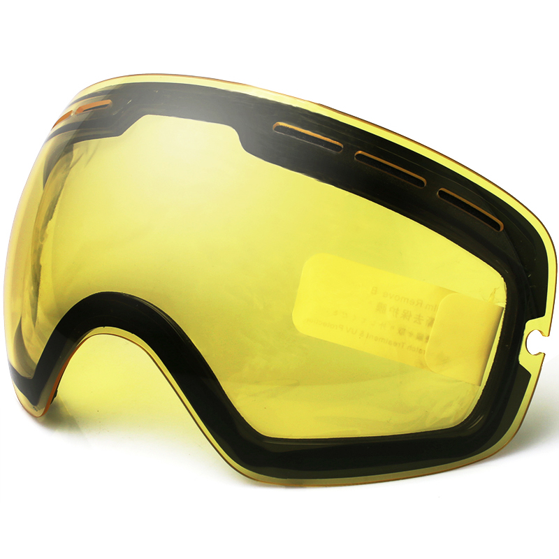 Ski Goggles,Brand Double brightening lens for ski goggles Night Snowboard Goggles Vision Ski Lens weak Light tint Weather Cloudy<br><br>Aliexpress
