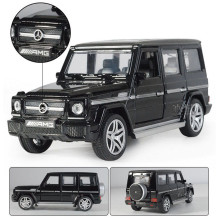 1/32 G65 Diecast Alloy Car Model Music Sound Lighting SUV Models Off-road Vehicles Model High Simulation Toy Gifts Collections